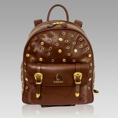 7b8dae7a24a9 LCM by Valentino Orlandi Italian Designer Brown Leather WESTERN Backpack Bag