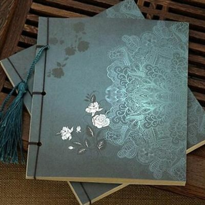 Retro Vintage Chinese Style Stitch Banded Flower Handwork Notebook/Journal Diary