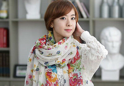 New  Womens Shawl Stole Soft Scarve Flower Super Shawls cotton Scarf Wraps