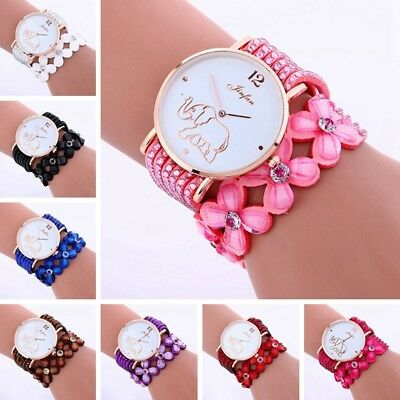 Cartoon Elephant Bracelet with Rhinestones Vintage Fashion Women Wristwatch