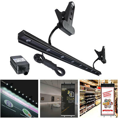 9W LED Light for Retractable Roll Up Banner Stand Adjustable IP65 Waterproof