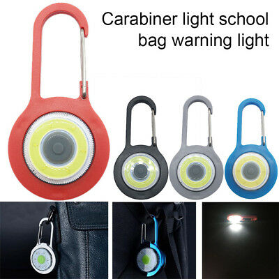 Mini COB LED Flashlight Keychain Handy Light Lamp Carabiner Camping