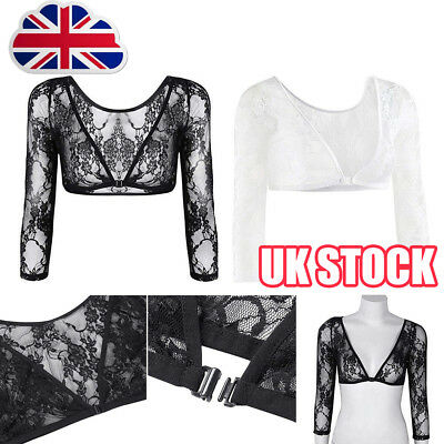 NEW Women Seamless Shoulder Arm Shaper Slimming Wrap Posture Lace Short Tops Y8