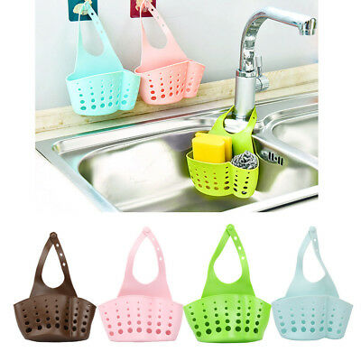 Portable Home Kitchen Hanging Drain Bag Basket Bath Storage Tools Sink Holder DE