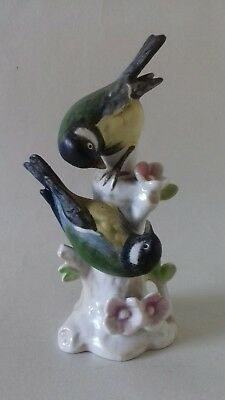 Great Titmouse Cabinet Figure 5-14 high Germany Song Bird The Great Tit Vintage Goebel Bird West Germany Figurine Gorgeous