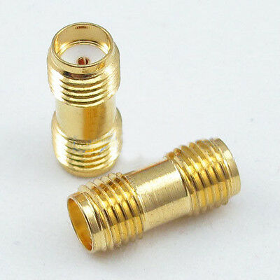 2 Pcs SMA Female to SMA Female Jack in series RF Coaxial Plug Adapter Connector