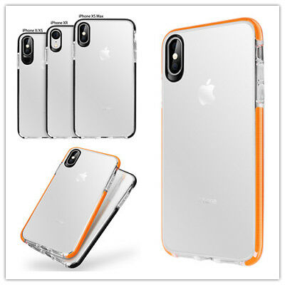 For iPhone X Xs Max XR Shockproof Protective Hybrid  Clear TPU  Cover Case