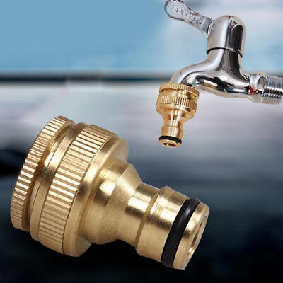 Faucet Pipe Irrigation Hose Connector Brass Tap Adapter Quick Hitch Connectors