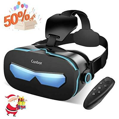 VR Brille, Canbor 3D VR Virtual Reality Headset, FOV (mit 4.0- 6.3 Zoll Handys)