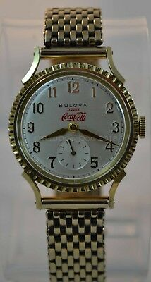 1949 NOS Vintage Bulova His Excellency 'JJ' watch Coca Cola collectible dial WOW
