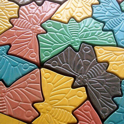 Pathway Paving Pavement Mold Concrete Stepping Stone Path Maker Butterfly