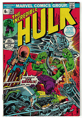 Marvel Comics THE INCREDIBLE HULK Issue 163 So Speaks The Gremlin! FN+