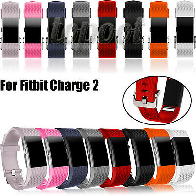 Fashion Sports Silicone Band Replacement Band Bracelet Strap For Fitbit Charge 2