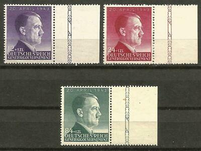 Germany Third Reich Occupation Poland General Gvt 1943 MNH Hitler 54th Birthday