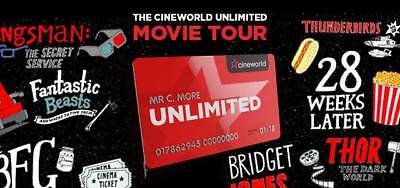 Cineworld Unlimited Card 13 months UNLIMITED MOVIES