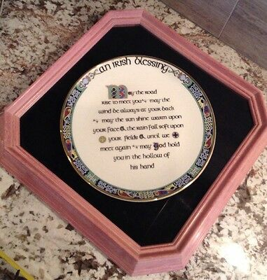 "Royal Tara Fine Bone China ""An Irish Blessing"" Plate, Beautifully Framed"