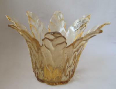 Hand Made Murano Glass Gold Brown Art Glass Bowl Tammaro Made in Italy