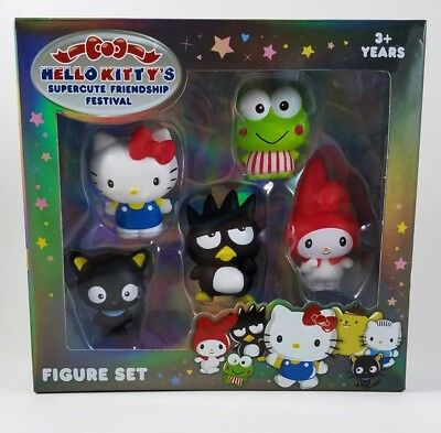 Hello Kitty's Supercute Friendship Festival NEW Sanrio Figure Set of 5 Free Ship