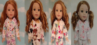 Doll Clothes Pajamas Fits 14.5 inch American Girl Wellie Wishers Doll 256abcd