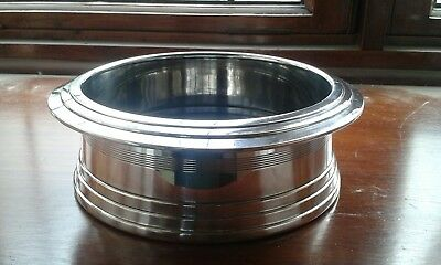 Very Large Silver Plated Wine/Champagne Bottle Coaster/Holder