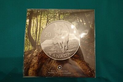 2013 CANADA $20 Pure Silver Wolf Coin - in SEALED PACKAGE