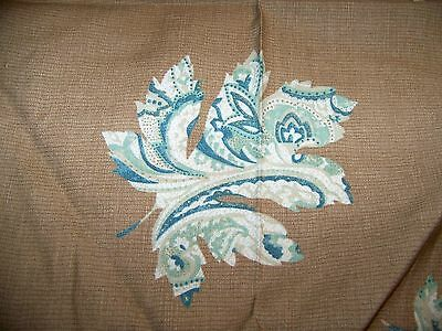 "Vintage Cotton Blend? Tablecloth Maple Leaf On Brown 54"" x 88""      S  ."