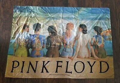 """Pink Floyd Back Catalog Fabric Poster Banner 42"""" x 29"""" Dark Side of Moon Wall"""