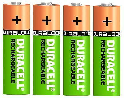 4 x DURACELL RECHARGE PLUS AA 1300 mAh Rechargeable Batteries NiMH PRE-CHARGED