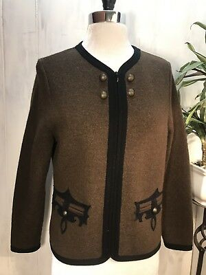 935aa1ac5cb3 ICELANDIC DESIGN BROWN Button Down Lambswool Wool Sweater Jacket ...