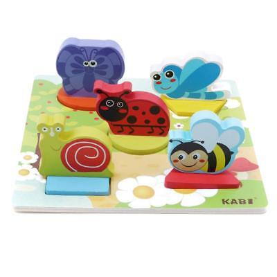 Development Baby Toys 3D Wooden Puzzle Cartoon Learning Educational Kids Toy J