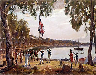 The Founding of Australia by Algernon Talmage. Fine Art Repro on Canvas or Paper