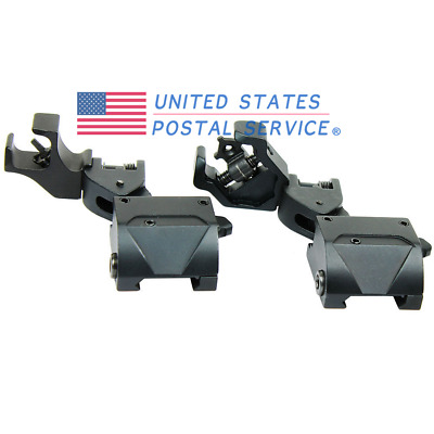 45 Degree Offset Front Rear Diamond Aperture Iron Sight Set Premium Tactical