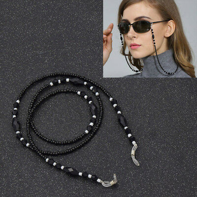 Charm Beads Beaded Eyeglass Cord Reading Glasses Eyewear Spectacles Chain Holder