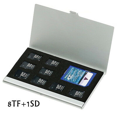 Useful Metal Aluminum Micro SD TF Memory Card Storage Box Protecter Case Holder