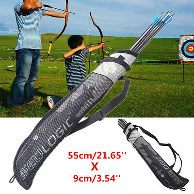 Archery Arrow Quiver Holder Strap Bag Belt Back PouchBow Shoot Hunting Portable
