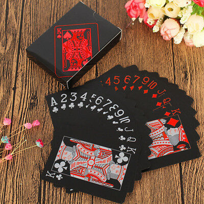 Waterproof Black Playing Cards Quality Plastic PVC Poker Creative Gift Durable R