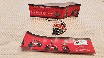 Manuals Literature Ducati Corse Shield Rubber Keychain Keyring Red