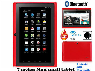 """7"""" Inch Tablet PC Android Bluetooth Quad-core Wifi 8GB Dual Camera for Kids GT"""
