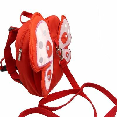 1 x Red Butterfly Shaped Backpack for Kids Walking Safety Harness Toddler Strap