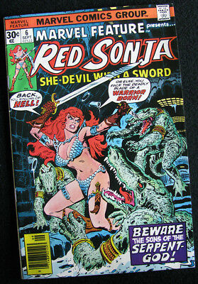Marvel Feature 6 (1976) Red Sonja! From The World Of Conan! Vf+! Large Photos