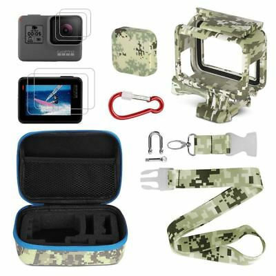 Camera Accessories Kits,Portable Action Camera Accessory Kit with Camouflag W2H2