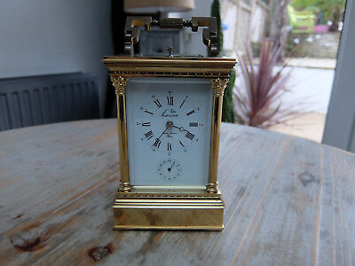 L'epee 8 day repeater carriage clock vintage 1970's original