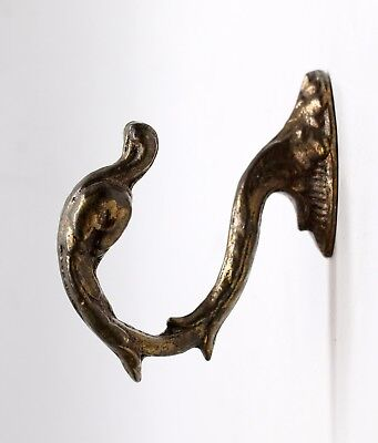 Salvaged Waldorf Bronze Swan Curtain Tie Back Hook