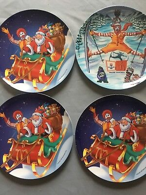 McDonalds Plate Christmas Santa Winter Olympics 1997 Collectible CHOOSE ONE