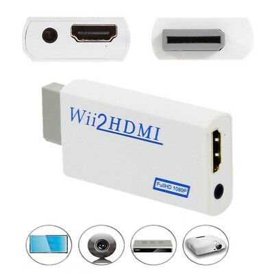 HD Wii To HDMI 1080P/720P Upscaling Converter Adapter Connector With 3.5MM ESCA