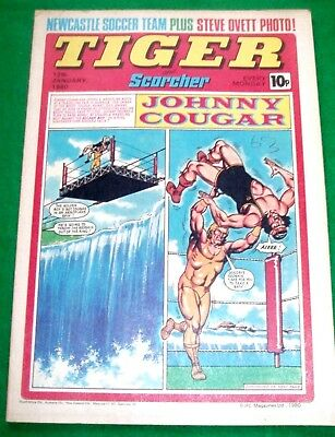 Tiger Comic 12/1/1980 With Newcastle Utd & Steve Ovett Stunning Colour Posters