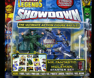 New MR FANTASTIC vs MOLEMAN Marvel Legends Showdown Figure 2-Pk STARTER SET Game