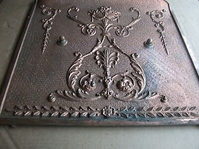 Copper Bonanza++ Cast Iron PLATED-WOW! Fireplace Architectural Salvage 20x24aprx