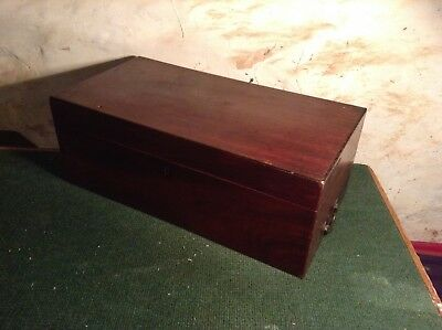 Antique writing box/slope some restoration needed.