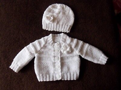 092df2374090 BABY GIRL NEW Hand Crocheted And Knitted Set